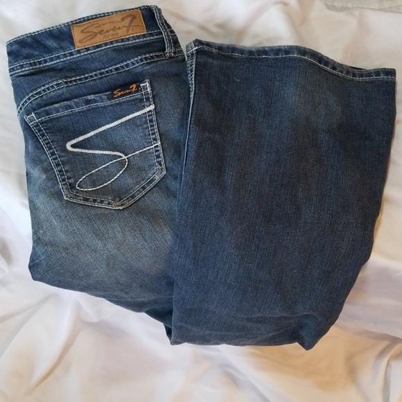 Seven7 Denim - Seven7 Low Rise Flare Jeans Sz 29